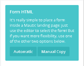 kết nối form layered popup với mautic