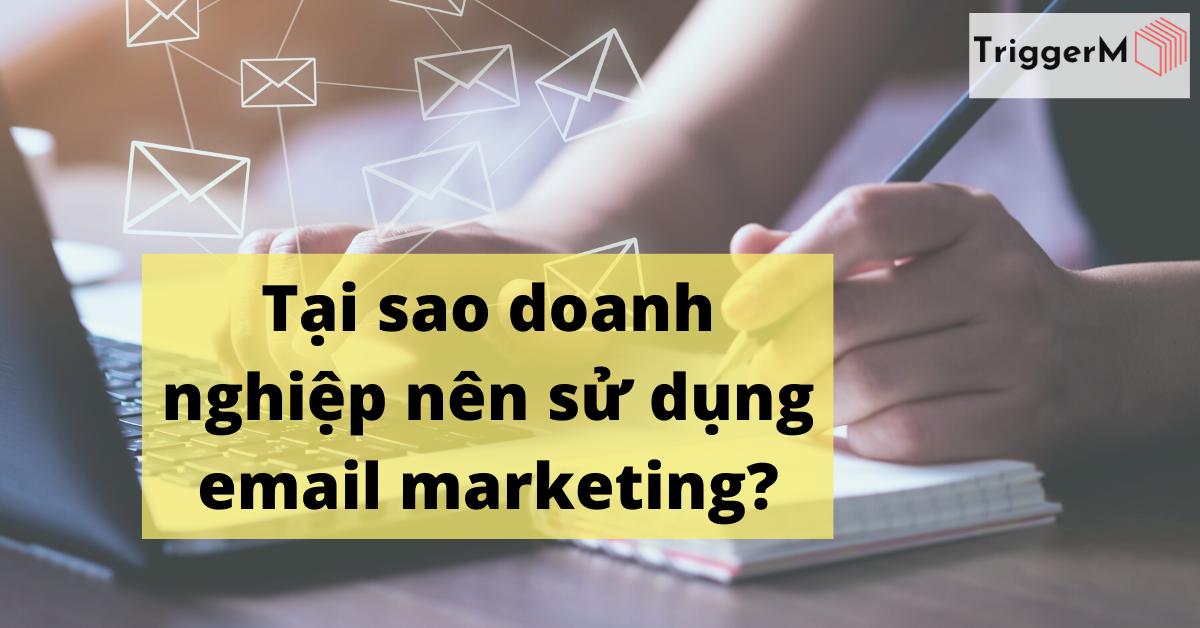 Tại sao doanh nghiệp nên sử dụng email marketing?